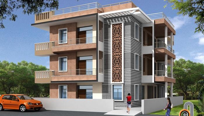Front Elevation Design Work : Jaali wpc mdf in jaipur rajasthan